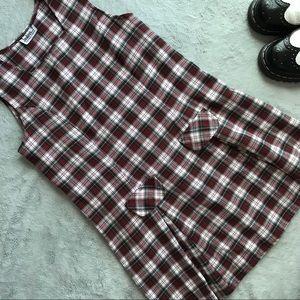 VTG 90s Grunge Plaid Schoolgirl Jumper Dress